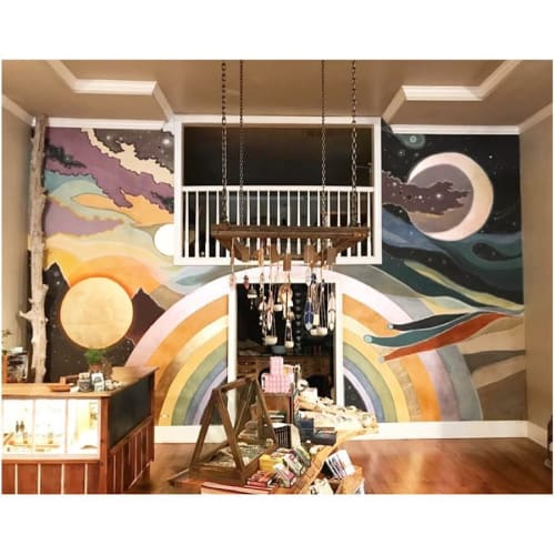 Murals by Sarah Coleman seen at Kitkitdizzi, Nevada City - Interior Mural
