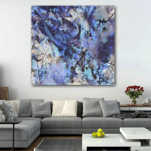 Paintings by DAVID SKILLICORN - American Abstract Painter seen at Private Residence, Los Angeles - Unison