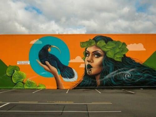 Street Murals by Dominic Fritsche seen at Gooses Screen Design, Christchurch - Mural