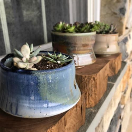 Vases & Vessels by Tim Sherman seen at Private Residence, Frederick - Succulent Planters