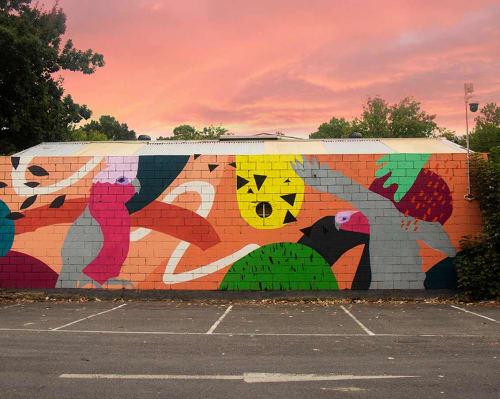 Street Murals by Sonsie Studios seen at River Street, Healesville - Healesville Street Art Mural