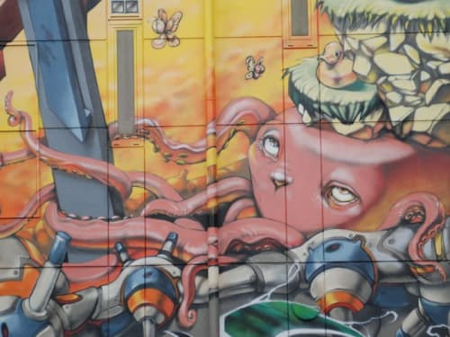 Murals by Imaone seen at Kichijoji, Hinohara - Wall Mural