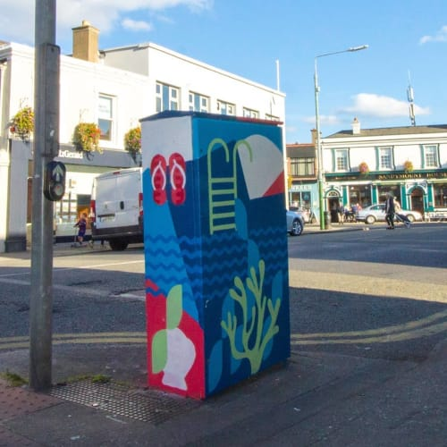 Street Murals by Zeljka Zupanic seen at Sandymount Road, Dublin - živjeli