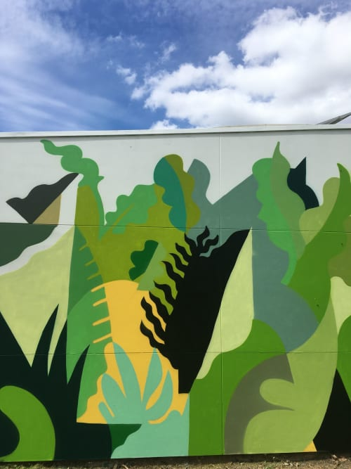 Street Murals by FIKARIS seen at Coburg, Coburg - Mystical Growth