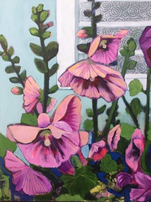 Paintings by Marielle Robichaud seen at Private Residence, Montreal - Souvenris d'étés Sans soucis