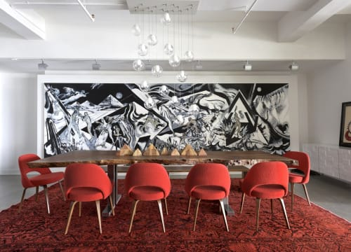 Paintings by Leandro Manzo seen at Private Residence, New York - ETERNAL II