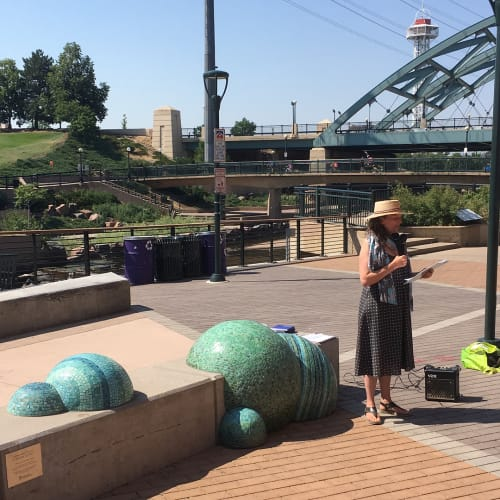 Public Mosaics by Jeanne Quinn at Confluence Park, Denver - Sing and Glide