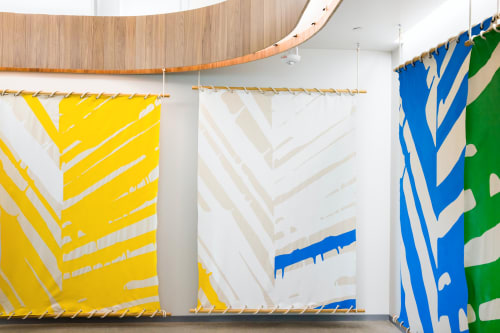 """Wall Hangings by ANTLRE - Hannah Sitzer seen at Google Events Center, Redwood City - """"Leaf innards"""""""
