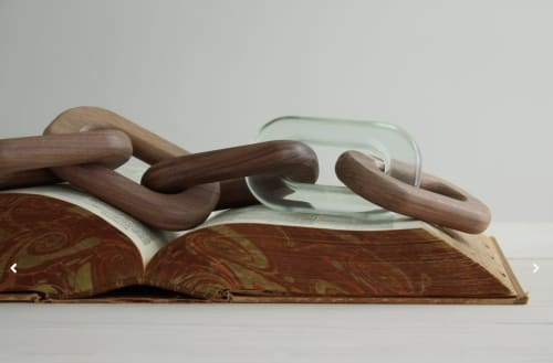 Art Curation by Noble Goods seen at Private Residence, New York - Links- walnut and resin