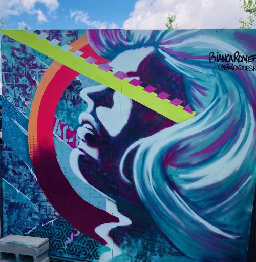 Murals by Bianca Romero seen at The William Vale, Brooklyn - Bianca Romero
