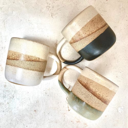 Cups by Born on Sunset Ceramics seen at Venice, Los Angeles - Sunset Mugs