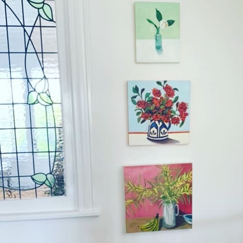 Paintings by Vanessa Encarnacao seen at Private Residence, Sydney - Bananas and Wattle
