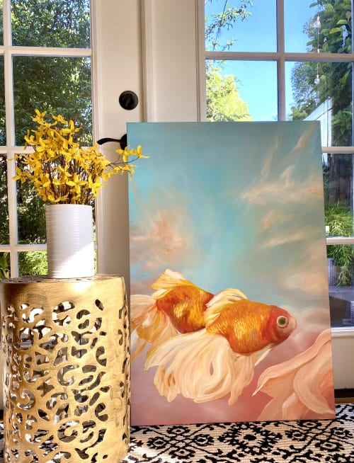 Paintings by Leanne Hamilton seen at Private Residence, San Jose - Joy Of being