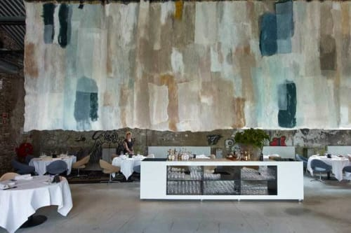 """Architecture by Claudy Jongstra seen at restaurant ONE, Roermond - """"Vertical Garden"""" Project"""