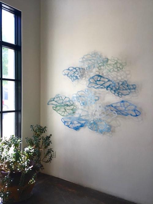 Sculptures by Jane Guthridge seen at Walker Fine Art, Denver - Light Forms 12 - wall sculpture
