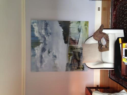 Paintings by Allen Bunker seen at Private Residence, Winchester - Lobster Cove Meadow