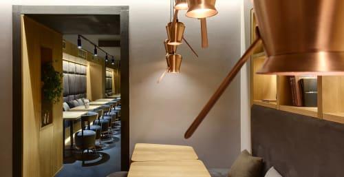 Pendants by YUDIN Design at TAKAVA Coffee-Buffet, Kyiv - Copper Cezve