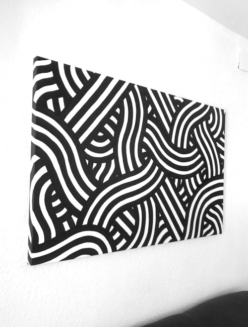 Paintings by Stillo Noir seen at Private Residence, Valencia - Interwoven Stripes