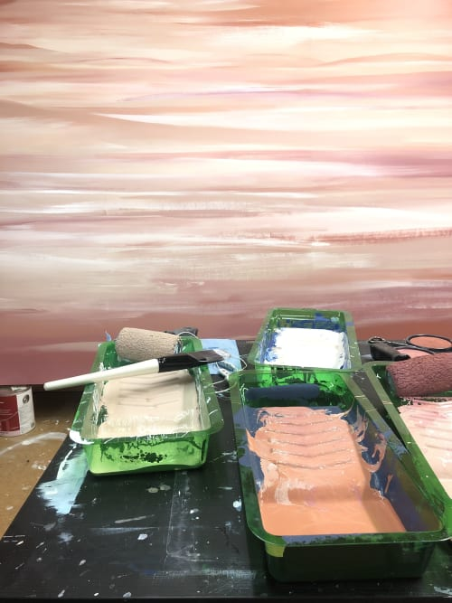 Paintings by Dana Mooney Art seen at Core Community, Vancouver - Custom Desert Landscape Painting