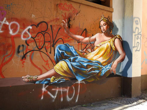 Street Murals by Anat Ronen seen at Krefeld, Krefeld - Our Lady of the Streets
