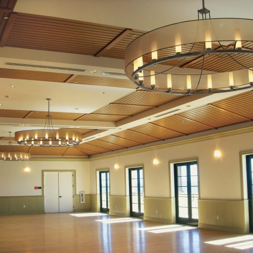 Pendants by ILEX Architectural Lighting seen at Lake Worth Casino Ballroom, Lake Worth - Ghost Pendants