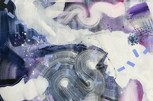 Abstract mixed media on canvas | Paintings by Lily Keller