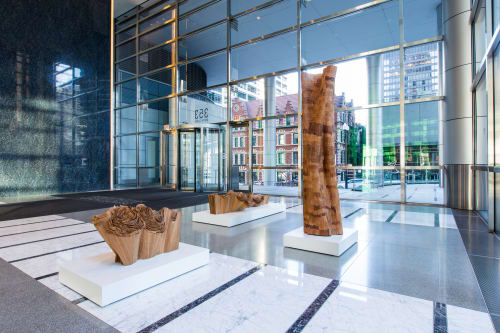 Public Sculptures by Barbara Cooper seen at 353 North Clark, Chicago, IL, Chicago - Lobby Installation