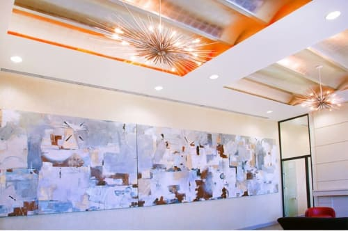 Murals by Joseph Conrad-Ferm seen at 808 Columbus Ave, New York - Site specific painting, for UDR residential bldg. Manhattan, NY