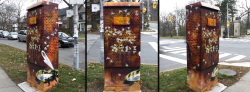 Street Murals by Nick Sweetman seen at High Park, Toronto - Save the Bees (Beaware)