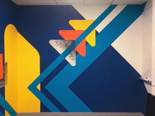 Murals by LAMKAT seen at Behalf Inc., New York - Flatiron