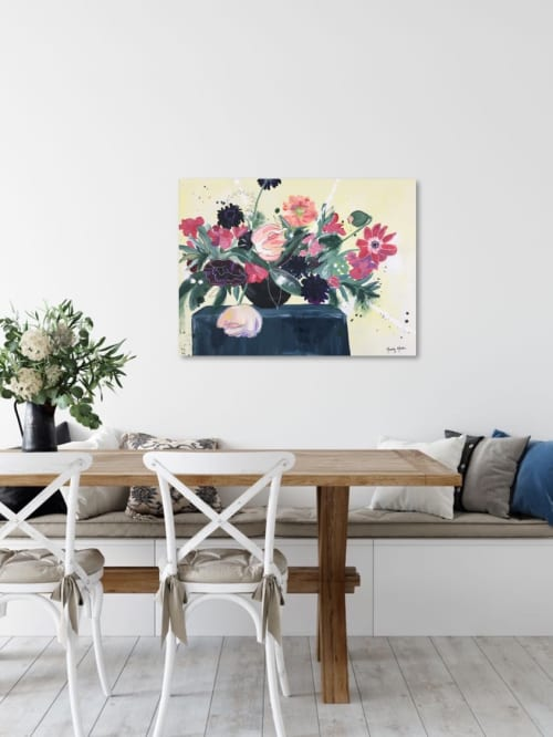 """Paintings by Mandy Martin Art seen at Private Residence, Middletown - """"Love Conquers All"""" Floral Still Life Painting"""