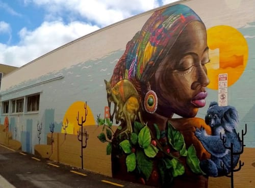 "Street Murals by Mohammed Awudu seen at Adelaide, Adelaide - ""Possible"" Mural"