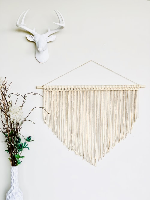Macrame Wall Hanging by Love & Fiber seen at San Diego, San Diego - Simple Triangle Large Macrame Wall Hanging