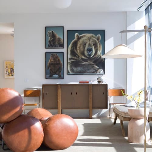 Paintings by Jill Greenberg seen at Private Residence, New York - Bear Portraits