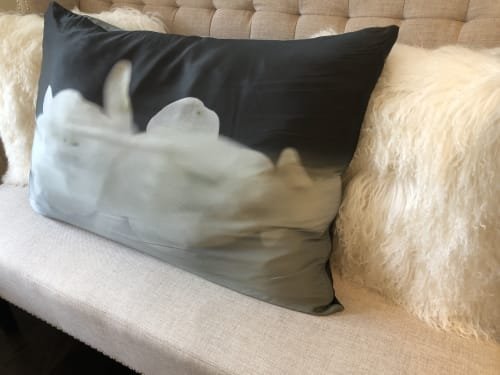 Pillows by Andrea Bonfils at Private Residence, Darien - Silk Pillow- Tranquility