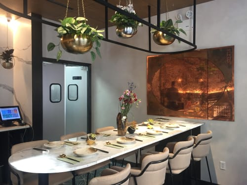 Wall Hangings by Skio Ding seen at 山海 Atlas Kitchen, New York - Map of Mountain and Sea