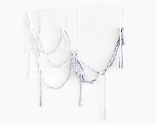 Wall Hangings by Cindy Hsu Zell seen at Private Residence, Los Angeles - Diptych piece