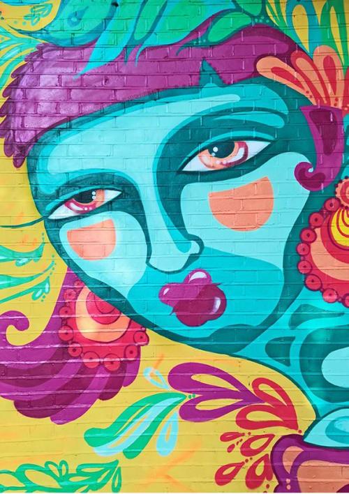 Street Murals by ELNO seen at Selhurst, London - Feel the Sumner Colors