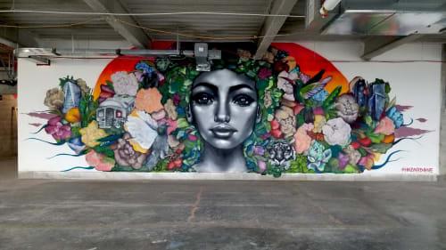 Murals by HazardOne seen at 3 World Trade Center, New York - 3 World Trade Centre