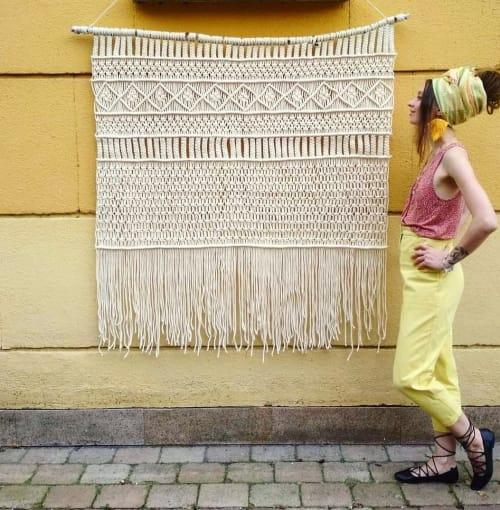 """Macrame Wall Hanging by Sasha Sukiennik seen at Pałac, Leszno - Wall carpet """"Ciao bella"""""""