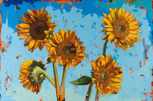 Paintings by David Palmer Studio seen at Pasadena, Pasadena - Sunflowers #13