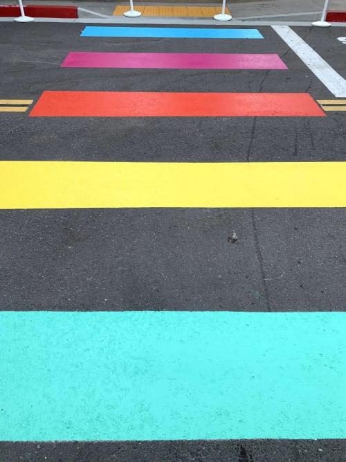 Rainbow Road   Street Murals by Stefanie Bales Fine Art