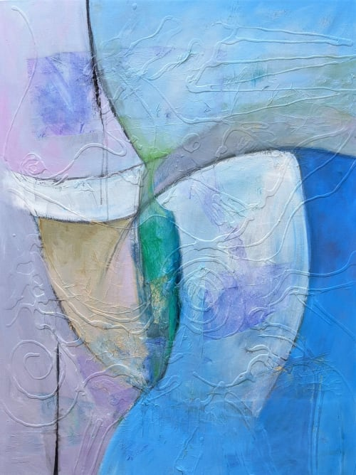Heartbeats Contemporary Painting | Paintings by Jillian Goldberg