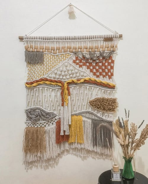 Macrame Wall Hanging by Rafty Crochet & Macrame seen at Java - Full of Colors Macrame