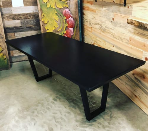 Tables by Black Rose WoodCraft seen at Portland, Portland - Ebonized White Oak Dining Table