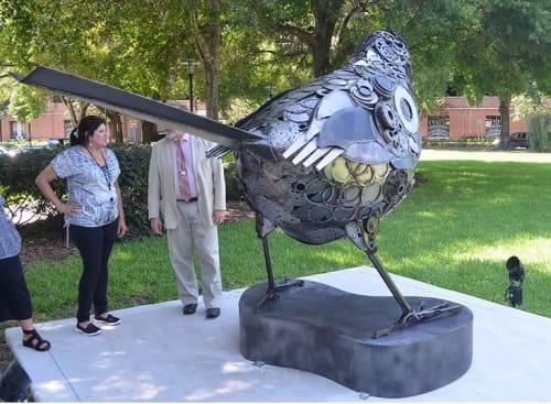 Public Sculptures by Donald Gialanella seen at Orange County Administration Center, Orlando - Dream Sparrow