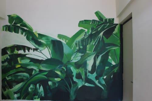 Murals by Aidan Myers seen at Porvorim, Penha de França - Banana Plants