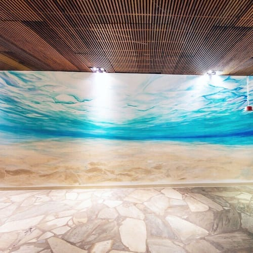 Murals by Leanna Wolff Studio seen at Royal Hawaiian Center, Honolulu - Be The Aloha