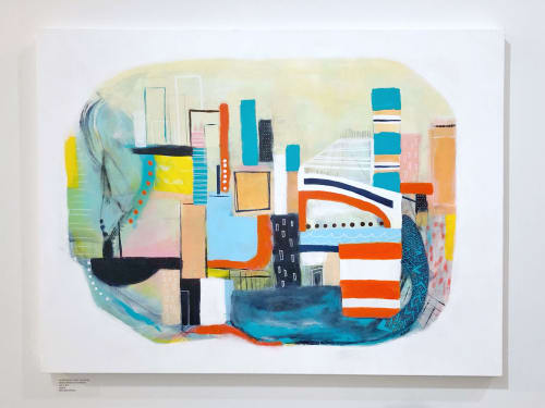 Paintings by Melanie Biehle seen at Gray Sky Gallery, Seattle - Somewhere Only We Know