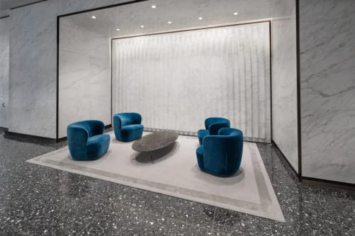 Rugs by Lucy Tupu Studio seen at 55 Broad St, New York - 55 Broad St-Office Lovvy